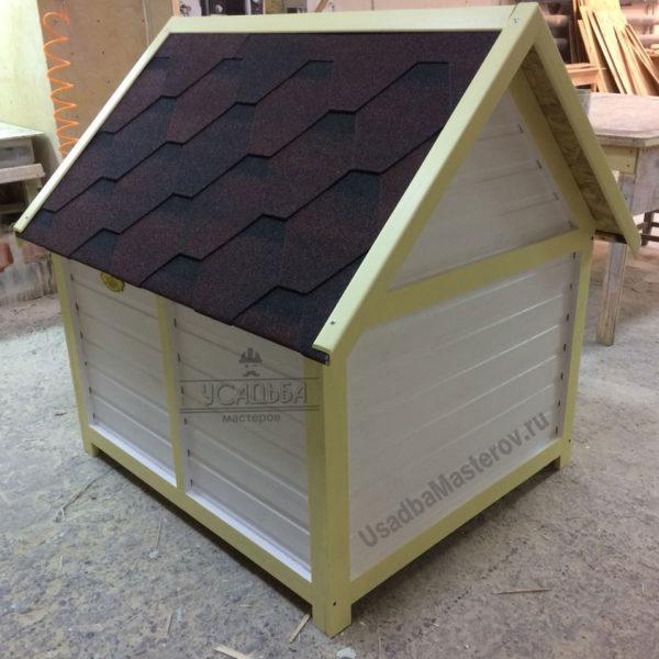 будка для собаки в виде домика