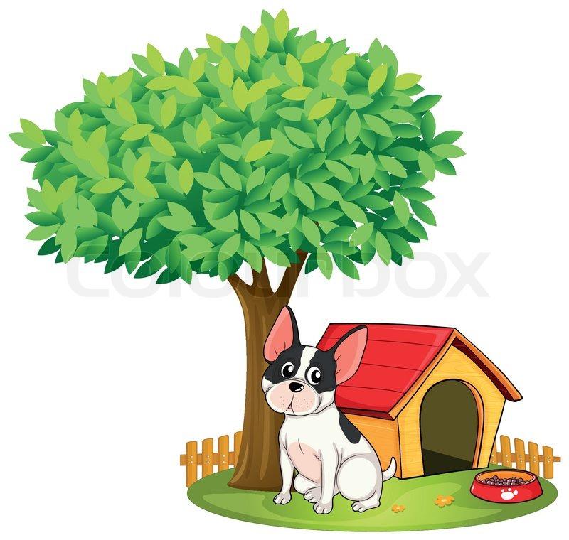 конура под деревом