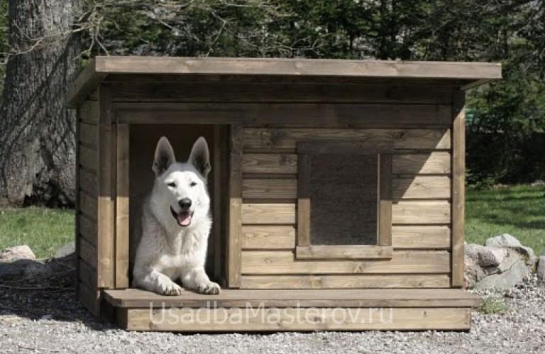 Сделать будку для немецкой овчарки