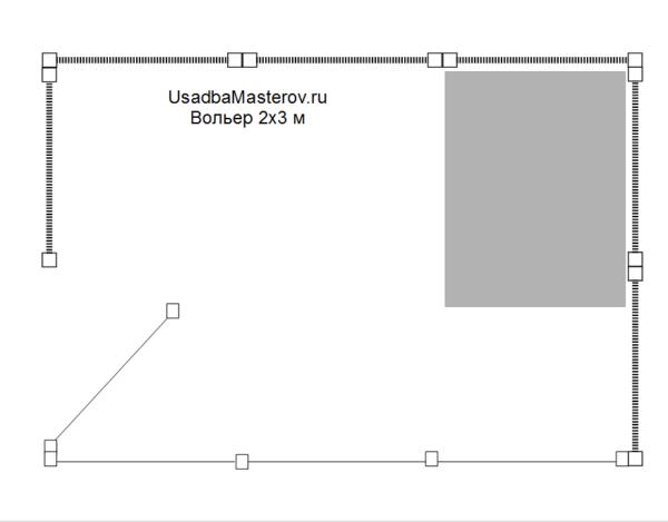 схема-вольера-для-собаки-2х3-м