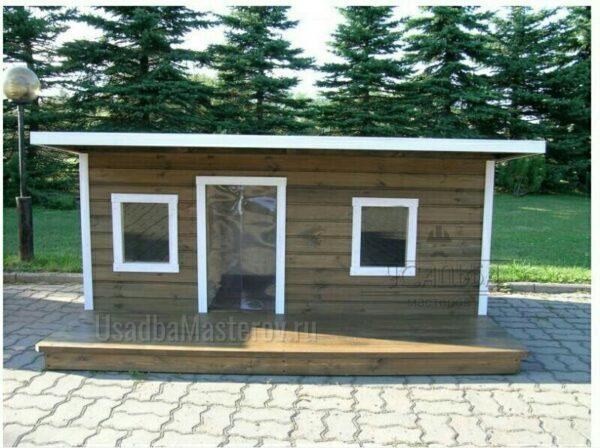 будка для двух собак с тамбуром Утепленная усадьбамастеров