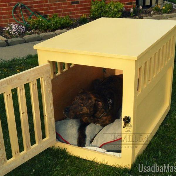 деревянная клетка для большой собаки