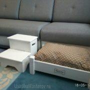 лесенка прикроватная с 2 ящиками классик