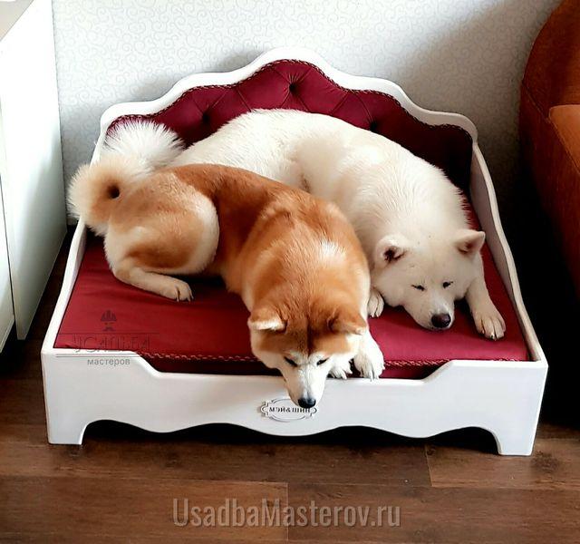 кроватка для собак ар-деко