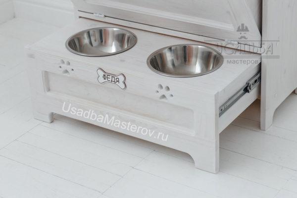 выдвижная подставка под миски для собак