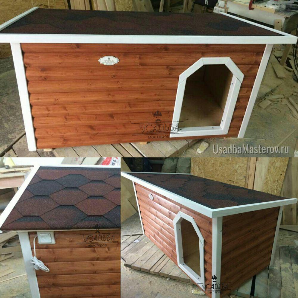 Утепленная будка для собаки с подогревом