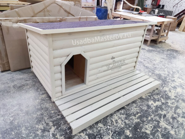 Утепленная будка для большой собаки с тамбуром «Питомник №1»