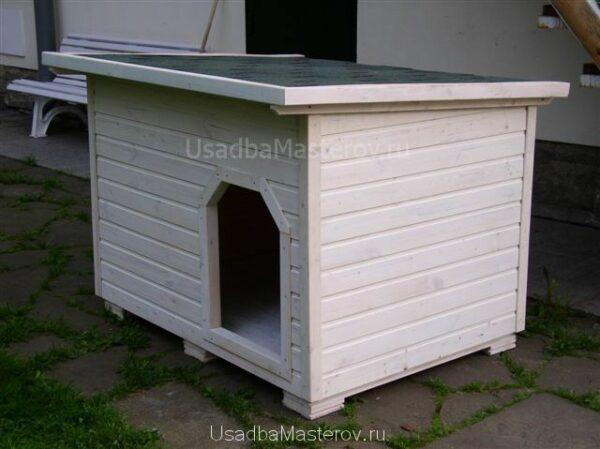 будка-для-собаки-белая-усадьбамастеров
