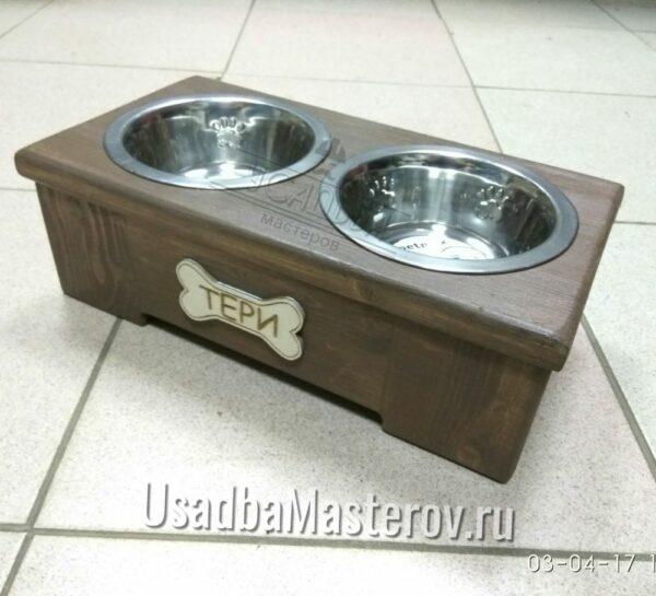 Деревянная подставка под миску для собак «Эконом» 10, 15, 20 и 30 см