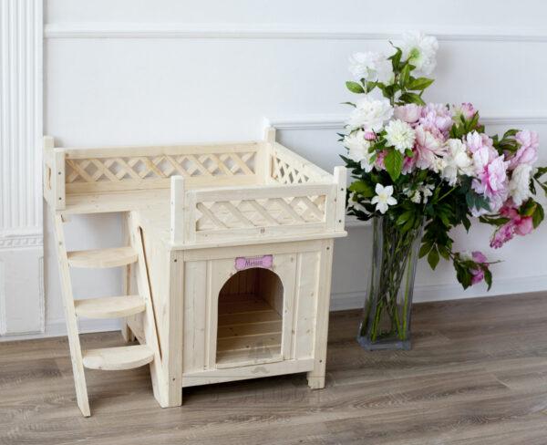 Деревянный домик с верандой — «Небо»