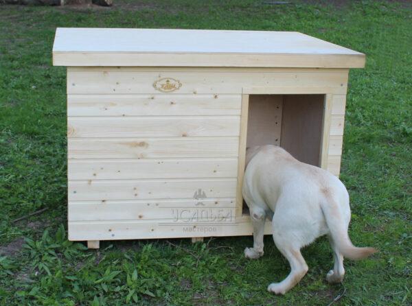 Утепленная будка для собаки в вольер «Мухтар»