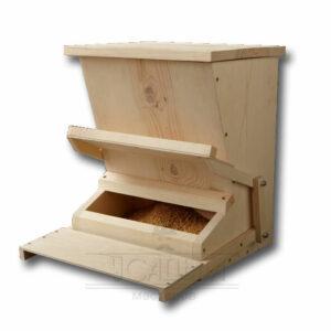 Автоматическая кормушка для кур деревянная