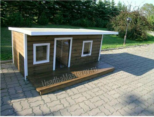Утепленная будка для двух собак «Бим»
