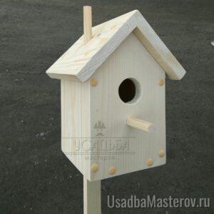 """Скворечник деревянный сборный """"Домик"""" 25×14 см"""
