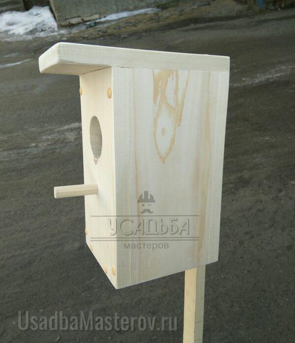 Скворечник деревянный «Эконом» 30×14 см
