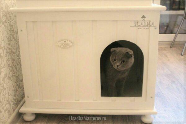 Закрытый кошачий туалет-домик «Комфорт»