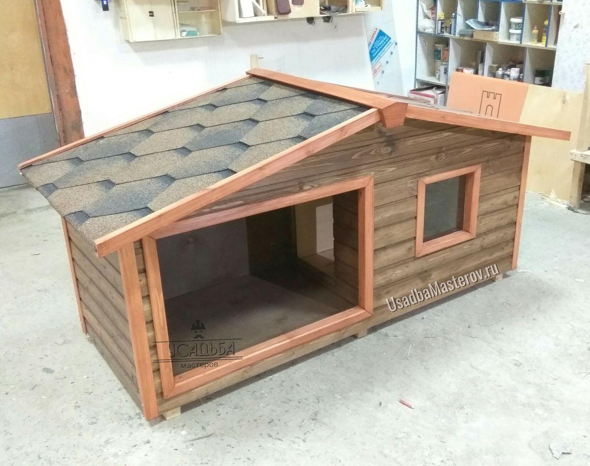 будка для большой Собаки с тамбуром