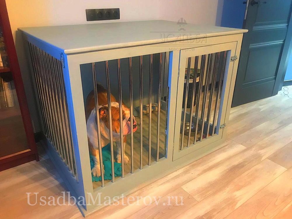 Клетка-для-собаки-в-квартиру