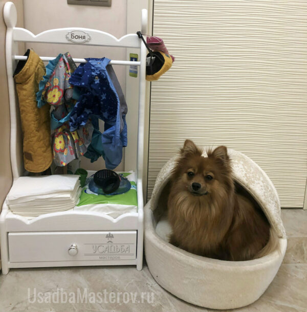 """Вешалка для одежды собак с выдвижным ящиком """"Афина"""""""