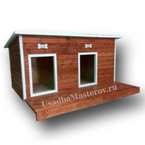 Утепленная-будка-для-двух-собак-усадьбамастеров