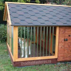 Кирпичная будка для собаки