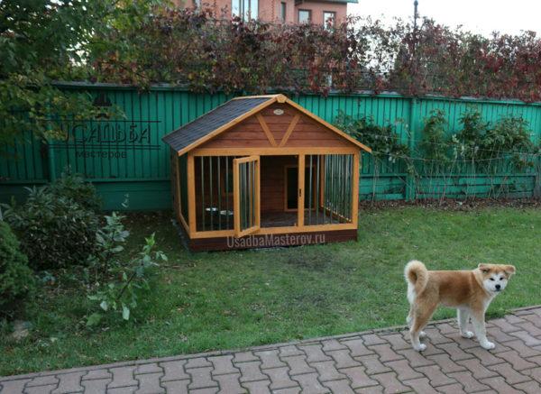 Будка вольер для собаки «Винстон»