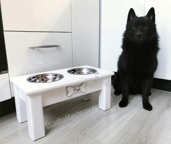 Деревянная подставка с мисками для собак «Сэм»