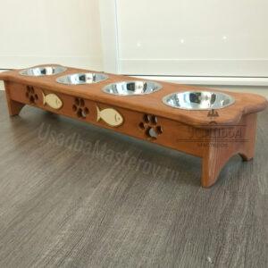 Кормушка на 4 миски «Косточка» для собак или кошек