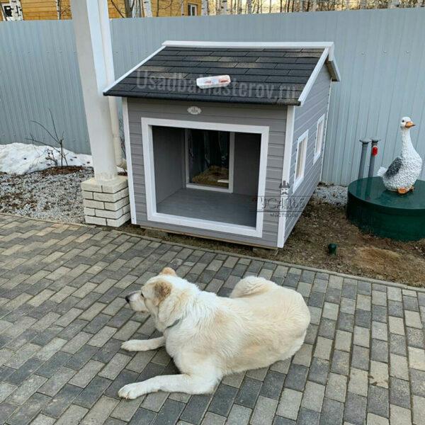Будка для собаки с тамбуром «Альба»