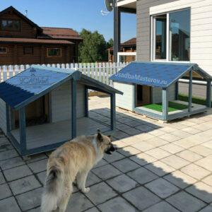 Будка для собаки с верандой «Риччи»