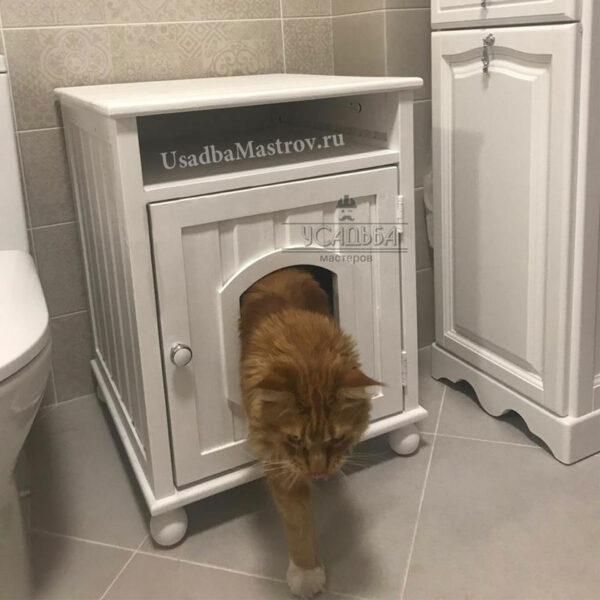 Закрытый кошачий туалет-домик «Felix»