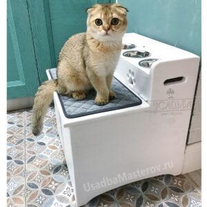 Миски для кошек на подставке «Моника» с ящиком для корма