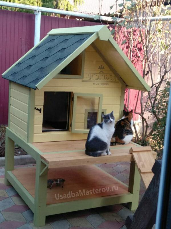 Будка для кошек «Кошкин дом»