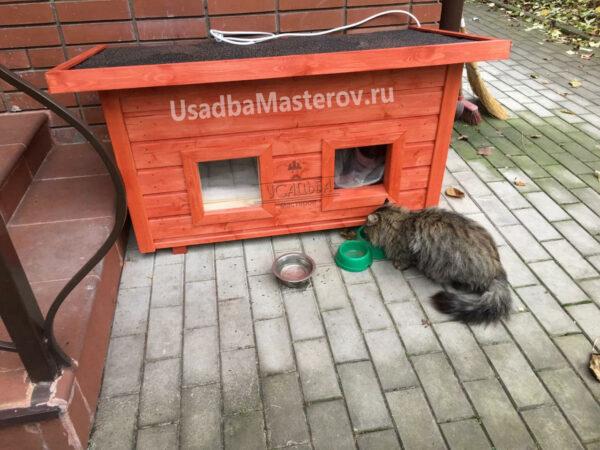 Уличная будка для кошки «Барс»