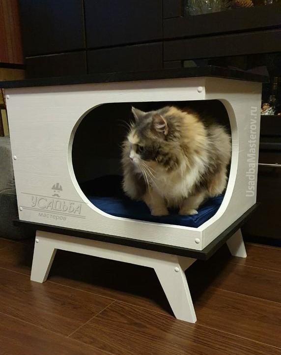 домик-тумба-для-кошек-в-квартиру-усадьба мастеров