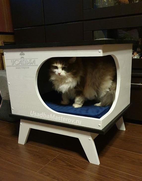 тумба-лежанка-для-кошек-усадьба мастеров